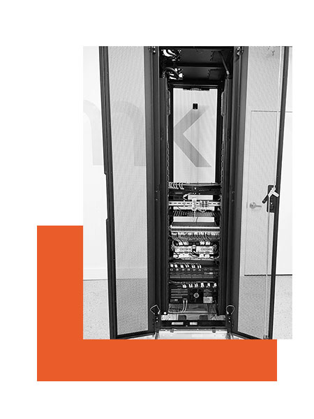 communication system rack